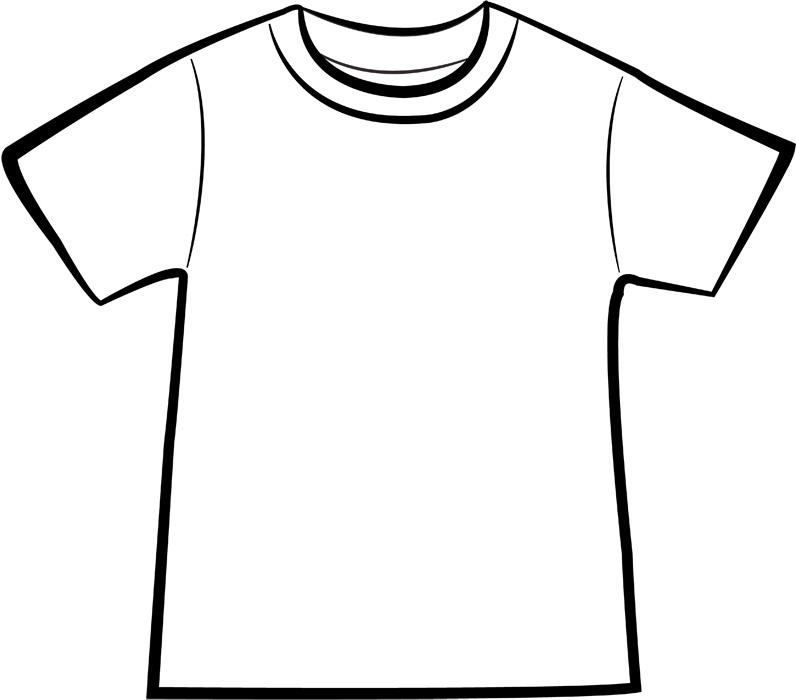 白いTシャツのイラスト